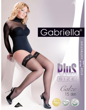Prilipinamos kojinės Gabriella Plus Size 164 7-8 15 den